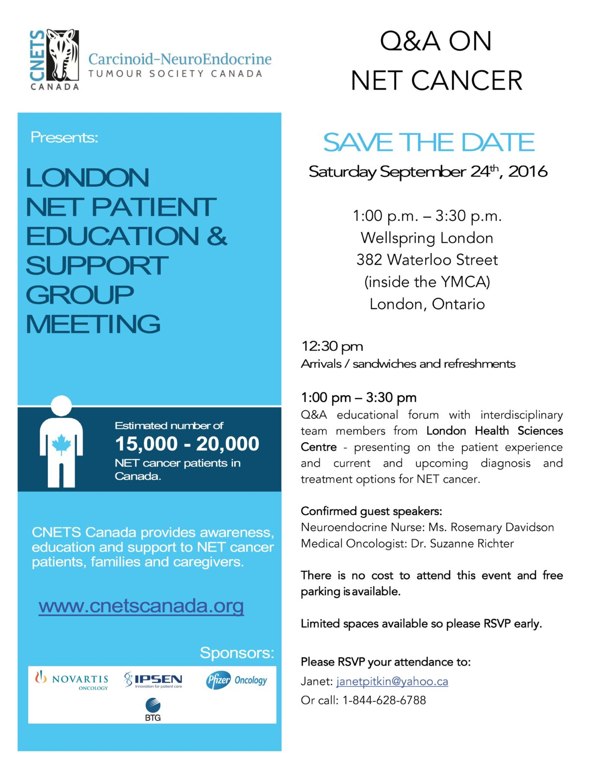 London Patient Education Day & Support Group Meeting @ Wellspring London | London | Ontario | Canada